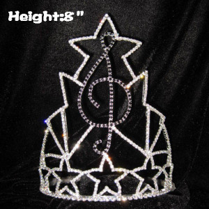 Nota de la música Crystal Rhinestone Pageant Crowns