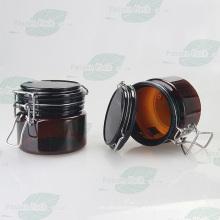 Amber pet plástico hermeticamente fechado frasco para cosméticos fruta máscara (PPC-55)