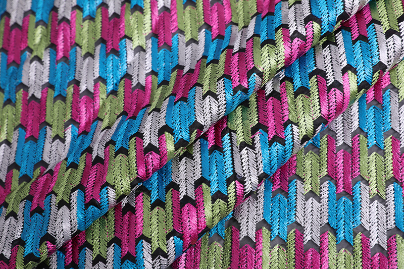Arrows Design Embroidery Fabric