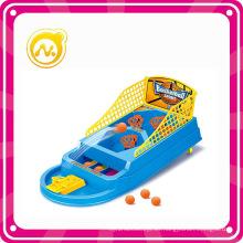 Mini juguete de plástico inteligente juego de tiro al baloncesto