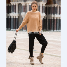 Frau Kaschmir-Pullover Fledermausärmeln