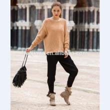 mangas de murciélago de suéter de cachemira de mujer