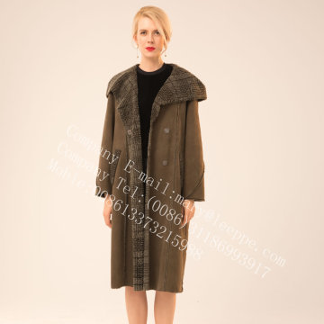 가역 스페인 Merino Shearling Coat for Lady