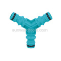 Plastic 3 way hose coupling