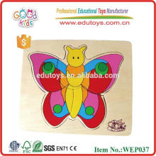 Biology Education Beautiful Butterfly Wooden Jigsaw Puzzle