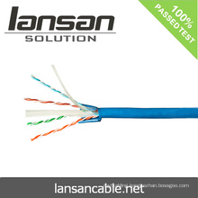 Lansan 4 pair utp fluke lan cat6 cable 305 meter 23awg BC good quality and factory price