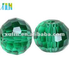 Perles de boule Disco en cristal à facettes 96 chinois 5003 / Perles de couleur émeraude