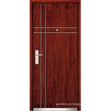 Porta de madeira de madeira de aço (WX-SW-102)