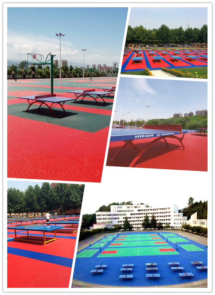 Outdoor table tennis courts