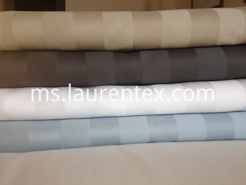 sateen stripe flat sheets