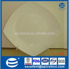 Venta al por mayor 10.5 platos de la cena de la pulgada, placa blanca, platos de cena cuadrados a granel baratos Bone China