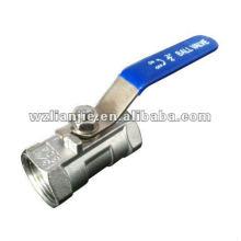 Tour PC trimestre 1 robinet à bille en acier inoxydable, réduire l'alésage