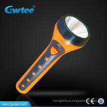 Linterna recargable de plástico de alta capacidad