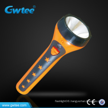 High capacity plastic led rechargeable torch