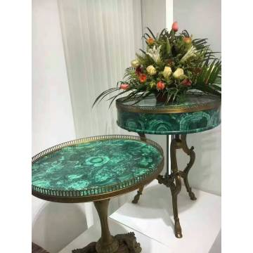 Table d'appoint en malachite