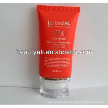 super oval tube for BB cream with acrylic cap