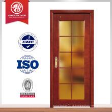 Porta de madeira de boa qualidade portas de cor de noz madeira design de porta de vidro