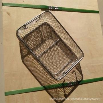 Heat Resistant Inconel 625 Wire Mesh Screen Basket / Inconel Wire Basket
