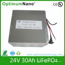 Paquete de batería de litio de 24V 30ah Deep Cycle Life para Solar