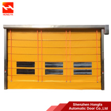 PVC fabric high speed fold up opener door