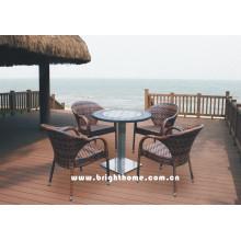 Muebles del ocio de la rota del PE / muebles al aire libre del jardín / sillas y tablas