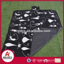 Nueva manta de picnic de lana polar impresa de fácil diseño