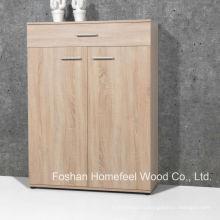 Простой деревянный шкаф для обуви для дома с 2 дверьми и ящиками (SC05)