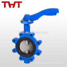API 609 ebro hand lever rubber seat lug butterfly valve