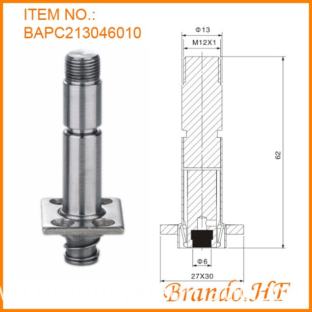 gearbox solenoid valve armature assembly