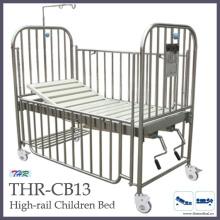 Cama de niños de riel de acero inoxidable (THR-CB13)