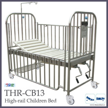 Stainless-Steel High Rail Children Bed (THR-CB13)