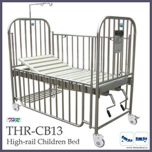 Нержавеющая сталь с высокой подвижной детской кроваткой (THR-CB13)