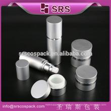 SRS plástico cosmético para creme e garrafa de alumínio para cuidados da pele e loção