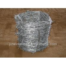 Peso suficiente arame farpado galvanizado para a África do Sul