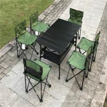 Tabla de picnic y sillas plegables de aluminio al por mayor de la cena de la mesa que acampa al por mayor 7-Piece