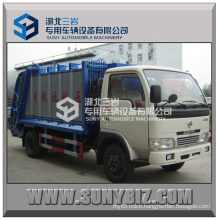 4000L Mini Dongfeng Xbw Garbage Compactor Truck