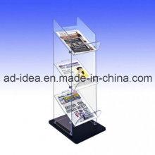 Suporte de exposição de três camadas Exhition / suporte de arquivo acrílico