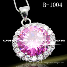 High Quality Pink Circle Fashion Necklace (B-1004)