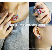 new model 2014 British flag earring