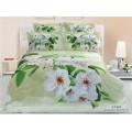 Роскошные свадебные пододеяльники для постельных принадлежностей Красивые романтические красные розы