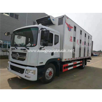Dongfeng Box Refrigerator Truck 5Tons Pigs Transport