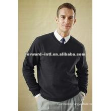 men cashmere pullover V neck cashmere wool pullover