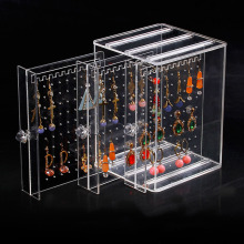 Fashion acrylic jewelry display earring storage box
