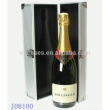 caixa de vinho de alumínio de alta qualidade para garrafa única da fábrica de China