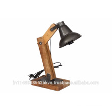 Wood Table Lamp in black