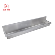 Hand Finshed with Radius Industry Standard Splash Back Mounted Washing Trough for School, Workshop and other Public Building