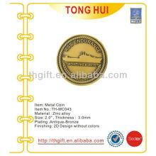 Navio de Guerra Moeda comemorativa de metal, moeda de lembrança com design militar