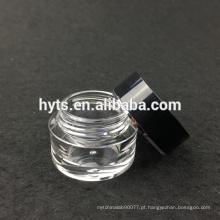 jarro acrílico do gel do prego da cor preta mini