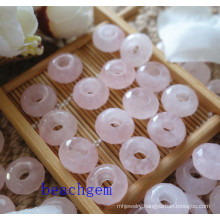 Rose Quartz Big Whole Loose Beads for Jewelry