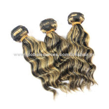 Mixed Color Loose Wave Human Hair Extension, Color #1b and #27, Fashionable and Charming
